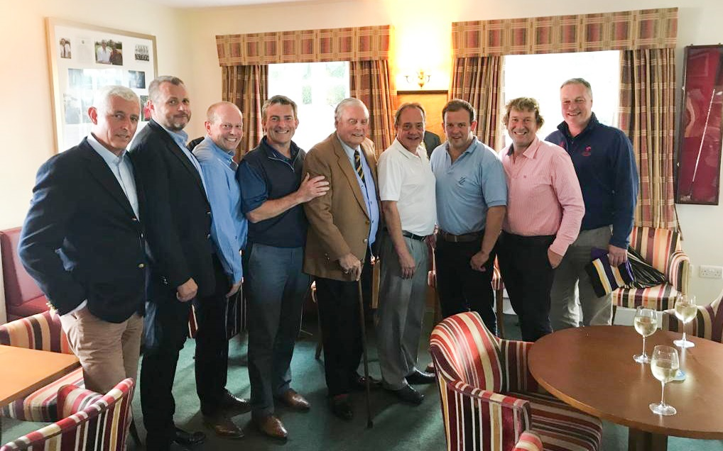 Old Cats with Peter Alliss at the Alliss Bar Hindhead GC
